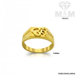 Literary Gold Casting Om Ring