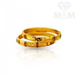 Wondrous Gold Fancy Bangles