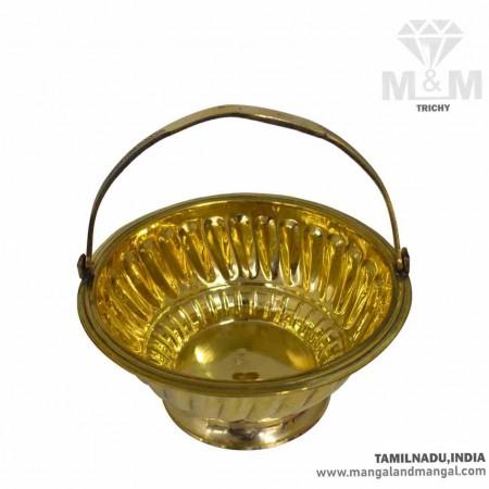 Brass Flower Basket for Pooja / Brass Puja Basket