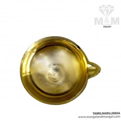 Brass Small Agal Vilakku / Akal Deepak / Akhand Diya / Agal Small Mould Oil Lamp