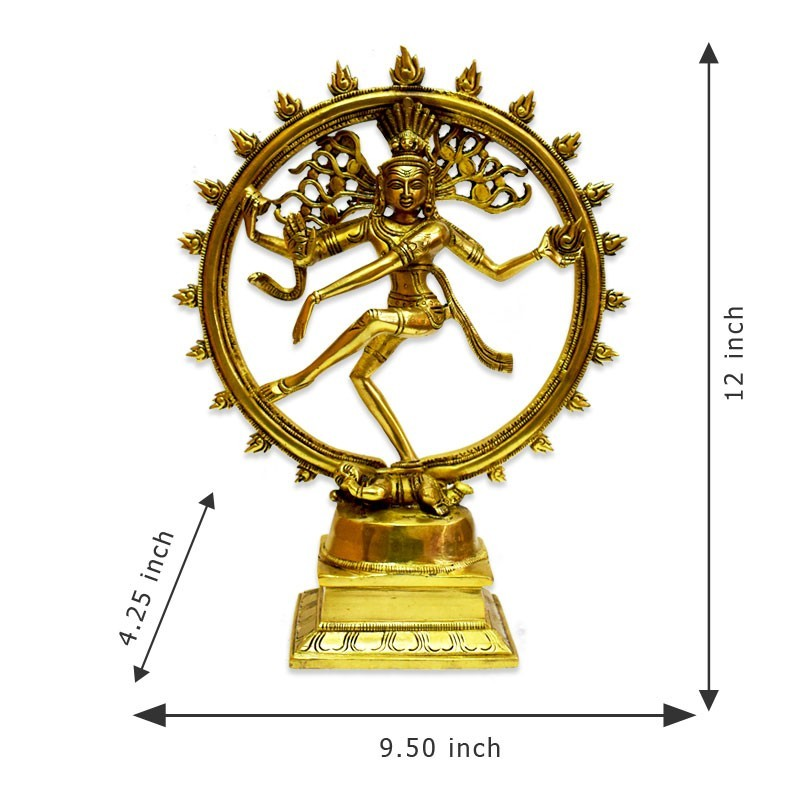 Brass Natarajar Statue With Antique Style