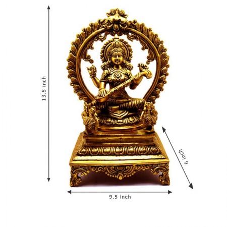 Brass Saraswathi Statue