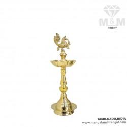 Brass Annapakshi 7 Face Oil Lamp / Swan Diya with 7 Wicks / Anna Pakshi Kuthu Vilakku