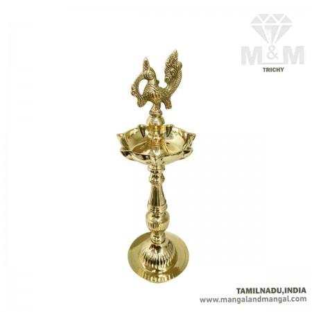 Brass Annapakshi 7 Face Oil Lamp / Swan Diya with 7 Wicks / Annam Pakshi Kuthu Vilakku