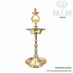 Brass Kumbakonam Traditional Hand Carved Kuthu Vilakku / Oil Lamp