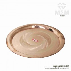 Decorative Copper Puja Aarti Plate / Thali / Taalam / Thattu / Pure Copper Plate