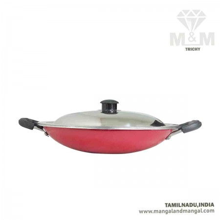 Aluminium Appachatti with Lid / Ideal Aluminium Appam Pan 240 mm