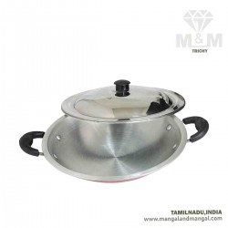 Ideal Aluminium Appachatti with Lid / Aluminium Appam Pan 240 mm