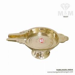 Brass Pooja Patra for Abhishek Of God Idols / Thirumanjana Tray / Komugam / Peedam / Pooja Abhisheka Patra in Brass