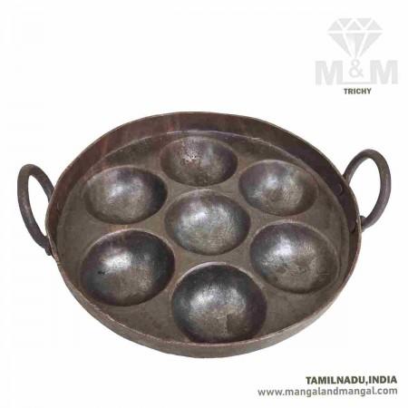 Iron Appam Maker 7 Cavity Deep / Unniyappa Chatti 7 Pits / Paniyarakkal 7 Kuzhi