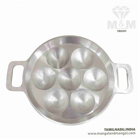 Annam Paniyaram Pan 7F Matt Finish / Aluminium 7 Cavity Appam Maker / Paniyarakkal / 7 Cavity Appam Patra