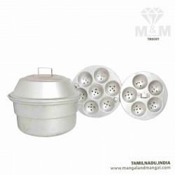 SKM Aluminium 12 Idli Maker & Steamer with 2 Plates
