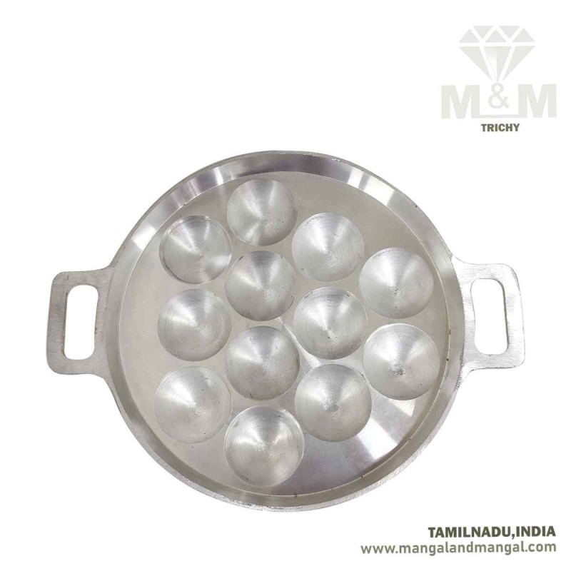 Annam Paniyaram Pan 12F Matt Finish / Aluminium 12 Cavity Appam Maker / Paniyarakkal