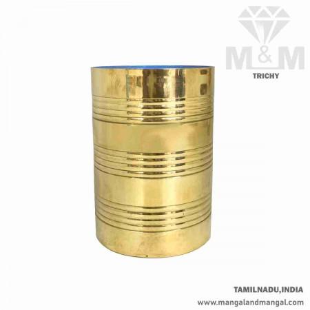 Traditional Rice Grains Measuring Brass Vessel / Tamilnadu Traditional Marakkaal / Kerala Traditional Para