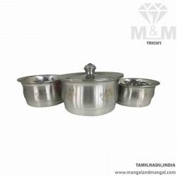 Crafted Baby Nano Pot 3 pcs Set / Stainless Steel Handi Set