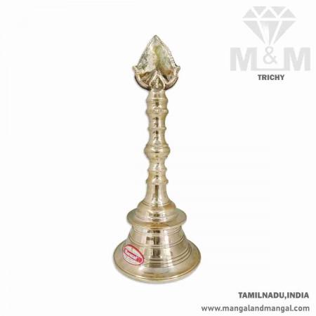 Handmade Brass Pooja Bell / Hand Held Vel Bell / Brass Puja Prayer vel bell