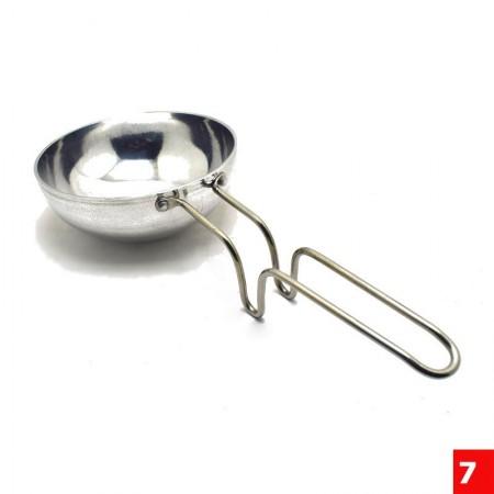 Alloy Aluminium Tadka Pan / Thalippu Pan with Steel Handle