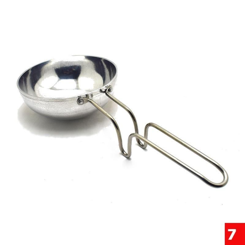 Anodized Aluminium (Frying) Thalippu Pan with Steel Handle