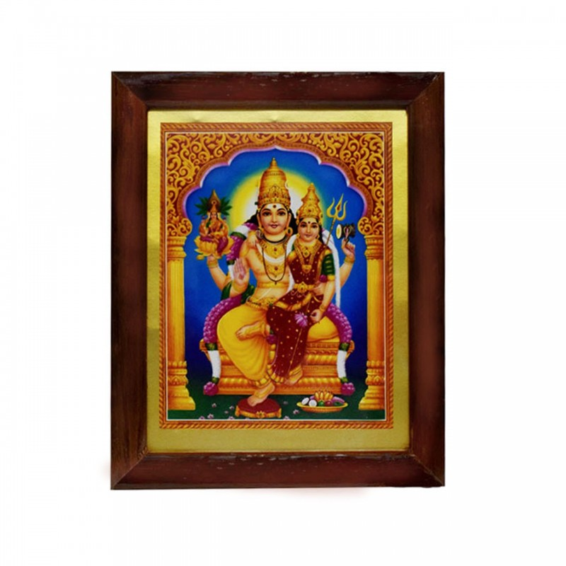 Handicraft Lord Swarna Akarshana Bhairava with Goddess Ajamila Photo for Pooja and Wall