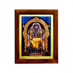 Handicraft Alangudi Lord Guru Dakshinamurthy Photo for Pooja and Wall