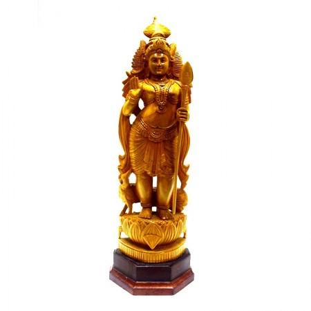 Wooden Mayil Vel Murugan Gift Article