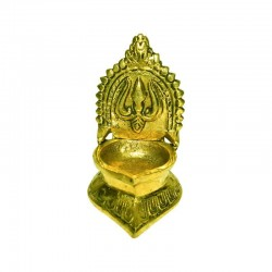 Brass Traditional Kamakshi Oil Lamp / Kamatchi Amman Vilakku
