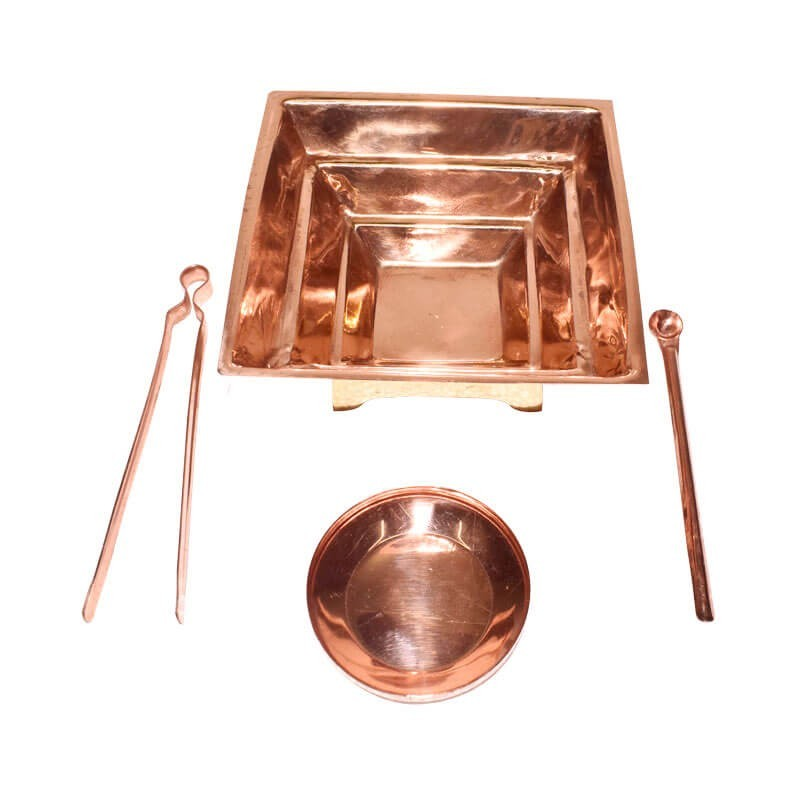 Copper Homa Kund Set / Havan Kund Set