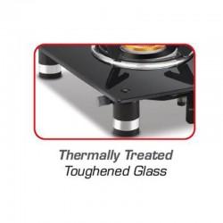 Vidiem Air Silver Single Burner Glass Top Gas Stove