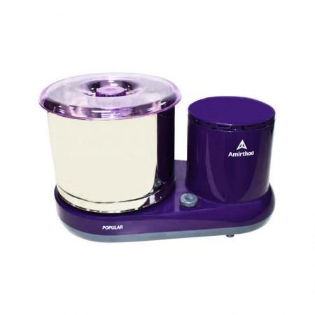 Amirthaa Popular Multifunction 2-Litre Table Top Wet Grinder 150 Watts Purple & Red