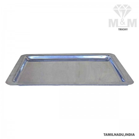 Rectangular Shape Aluminium Serving Tray Mirror Finish