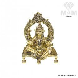 Brass Goddess Mahalakshmi Idol / Maha Laxmi Statue