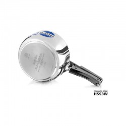 Hawkins HSS3W Stainless Steel Wide Pressure Cooker 3 Litres Silver