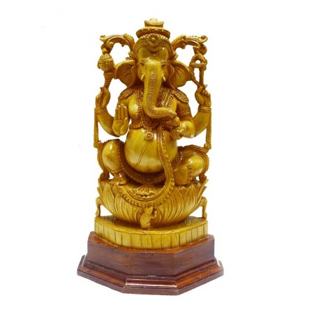 Wooden Lord Ganesha Gift Article
