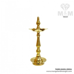 Brass Traditional Kerala Kuthu Vilakku / Oil Lamp