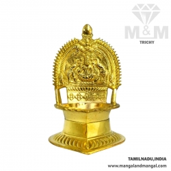 Brass Traditional Kamatchi Vilakku / Kamakshi Oil Lamp