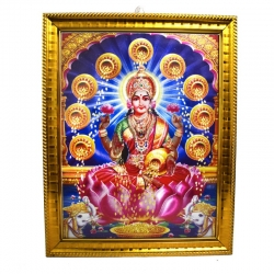 Handicraft Lord Lakshmi Photo for Pooja and Wall