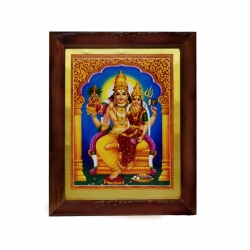Handicraft Lord Swarna Akarshana Bhairava with Goddess Ajamila Photo for Pooja and Wall