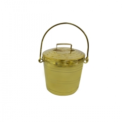 Brass Traditional Bucket with Lid