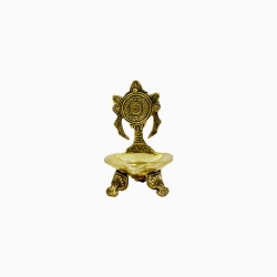 Brass Decorative Chakra Vilakku / Oil Lamp