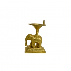 Brass Decorative Elephant Vilakku / Oil Lamp