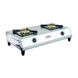 Prestige Shakti L.P. Gas Stove Two Brass Burner With Stainless Steel