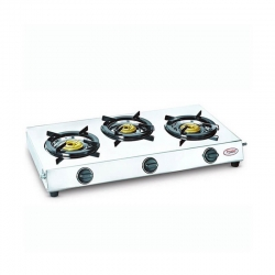 Prestige Perfect L.P. Gas Stove Three Brass Burner With Stainless Steel