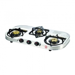 prestige Royale Duplex Gas Table - DGS 03 L ( Three Brass Burner With Stainless Steel )