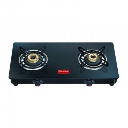 Prestige Magic Glass Top GTMC - 02 ( Two Brass Burner With Powder Coated )