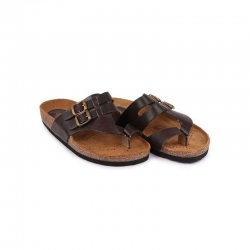Bata Quovadis Brown Leather Sandals for Men - 874-4464 Size - 10