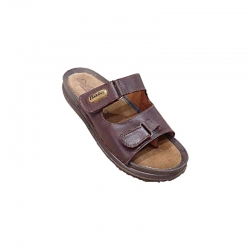 Bata Quovadis Brown Leather Sandals - 875-4714 Size - 10
