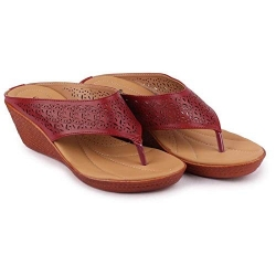 Bata Comfortina Wedge Sandals for Women - 671-5149 Size - 6