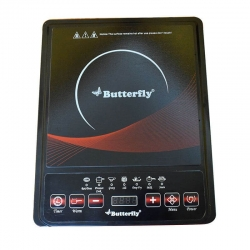 Butterfly Ivory Plus Power Hob 1600 Watt Induction Cooktop Black