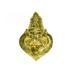 Brass Lord Narasimha Wall Hanging Mask