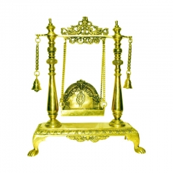 Brass Handcrafted Pooja Swing / Jhula / Oonjal